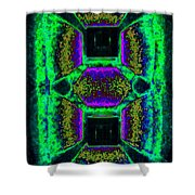 Abstract Fusion 139 Shower Curtain