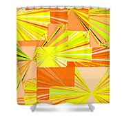 Abstract Fusion 14 Shower Curtain