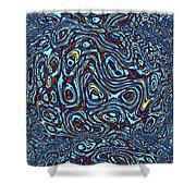 Abstract Fusion 141 Shower Curtain