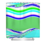 Abstract Fusion 146 Shower Curtain