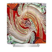 Abstract Fusion 148 Shower Curtain