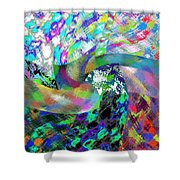 Abstract Fusion 15 Shower Curtain