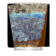 Abstract Fusion 153 Shower Curtain