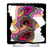 Abstract Fusion 154 Shower Curtain