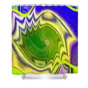 Abstract Fusion 157 Shower Curtain