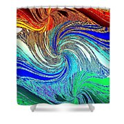 Abstract Fusion 159 Shower Curtain