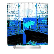 Abstract Fusion 21 Shower Curtain