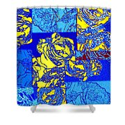 Abstract Fusion 22 Shower Curtain