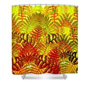 Abstract Fusion 23 Shower Curtain