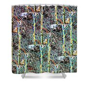 Abstract Fusion 3 Shower Curtain