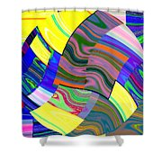 Abstract Fusion 31 Shower Curtain