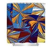 Abstract Fusion 34 Shower Curtain