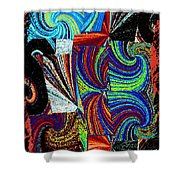 Abstract Fusion 37 Shower Curtain
