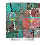 Abstract Fusion 39 Shower Curtain