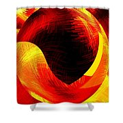 Abstract Fusion 40 Shower Curtain