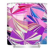 Abstract Fusion 41 Shower Curtain
