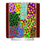 Abstract Fusion 43 Shower Curtain