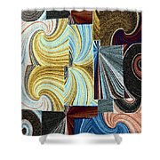 Abstract Fusion 45 Shower Curtain