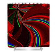 Abstract Fusion 49 Shower Curtain