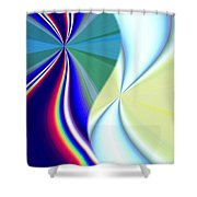 Abstract Fusion 50 Shower Curtain