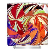 Abstract Fusion 56 Shower Curtain