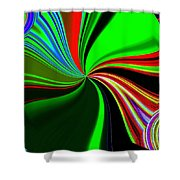 Abstract Fusion 57 Shower Curtain
