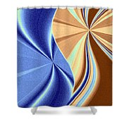 Abstract Fusion 66 Shower Curtain