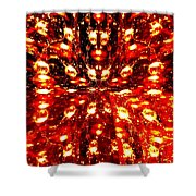 Abstract Fusion 76 Shower Curtain
