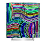 Abstract Fusion 78 Shower Curtain
