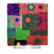 Abstract Fusion 79 Shower Curtain