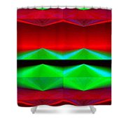 Abstract Fusion 83 Shower Curtain
