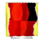 Abstract Fusion 84 Shower Curtain