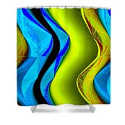Abstract Fusion 85 Shower Curtain