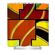 Abstract Fusion 92 Shower Curtain