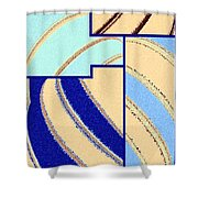 Abstract Fusion 94 Shower Curtain