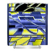 Abstract Fusion 98 Shower Curtain