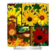 Abstract Fusion 99 Shower Curtain