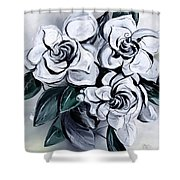 Abstract Gardenias Shower Curtain