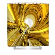 Abstract Gold Rings Shower Curtain
