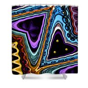 Abstract Hearts Shower Curtain