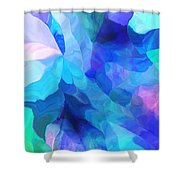 Abstract In Blues 052612 Shower Curtain