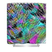 Abstract In Chalk Shower Curtain