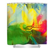Abstract In Full Bloom Shower Curtain
