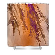 Abstract In July Shower Curtain