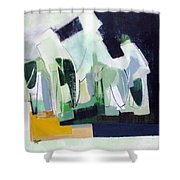 Abstract Island Night And Day Shower Curtain
