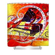 Abstract Jazzy Piano Shower Curtain