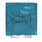 Abstract Jellyfish Shower Curtain