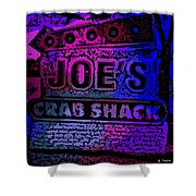 Abstract Joe's Crabshack Sign Shower Curtain