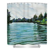 Abstract Landscape 5 Shower Curtain