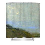 Abstract Landscape - Green Hillside Shower Curtain